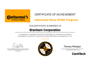 Branhahm Star Certification